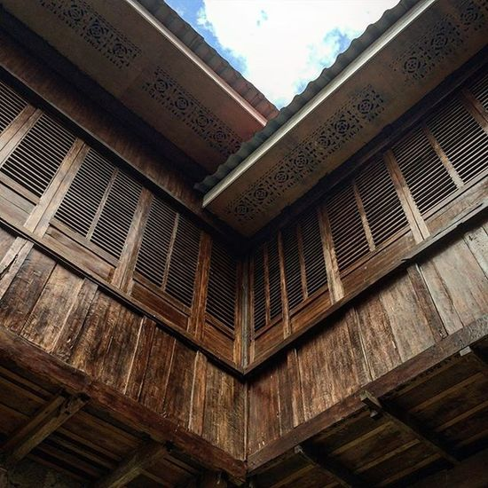 A part of the San Guillermo de Aquitania Church in Dalaguete, Cebu. Photography Cebu Old Architecture Church Wood