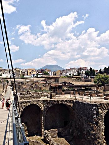 From my recent trip to Italy: the Herculaneum ruins with Mt. Vesuvius looming in the background Traveling Holiday Eye4photography