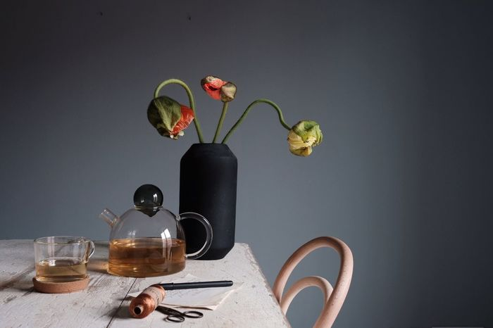 Poppies on my table Spring Poppy Flower Head Flowers Vase Break Tea Pot Tea Home Office Working At Home Desk Table Interior Views Interior Design Poppies  EyeEm Selects Table Still Life Flower Coffee Cup Coffee - Drink Vase Indoors  No People