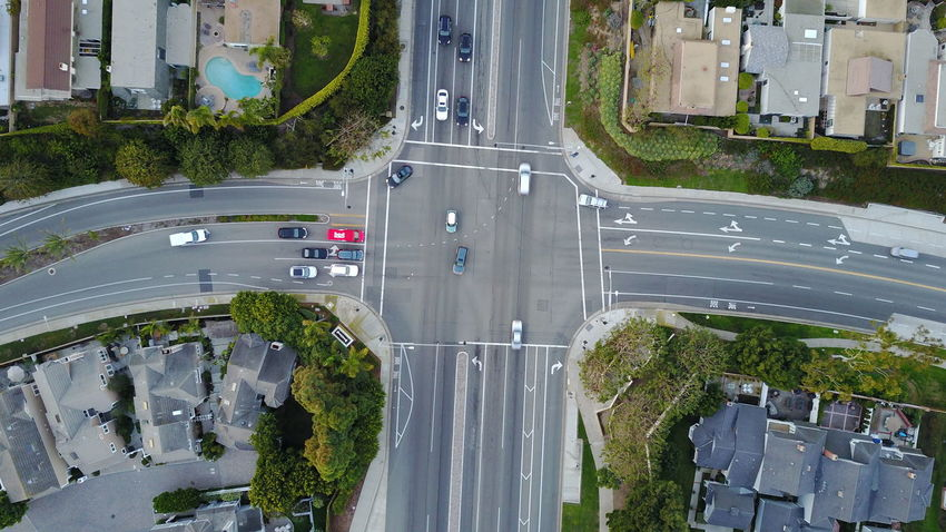 Car City City Life City Street Dana Point, Ca Day Drone  Dronephotography From Above  Intersection No People Road Social Issues Traffic Transportation
