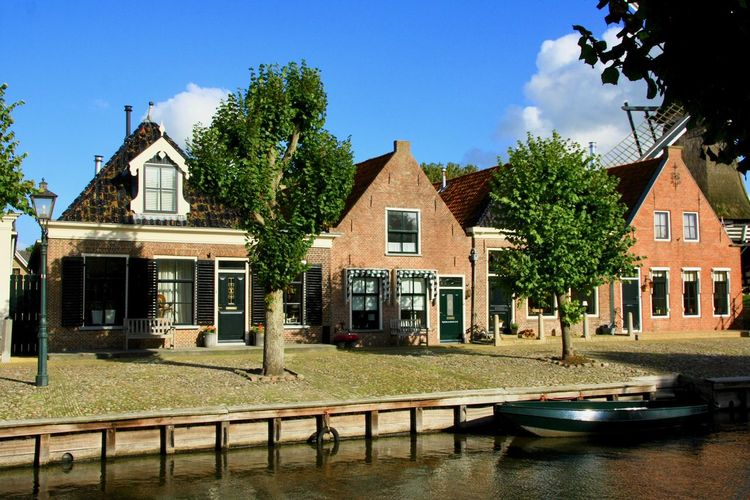 Dutch Scene Dutch Houses Canals And Waterways Cloud - Sky Sunlight No People Water Row House Outdoors