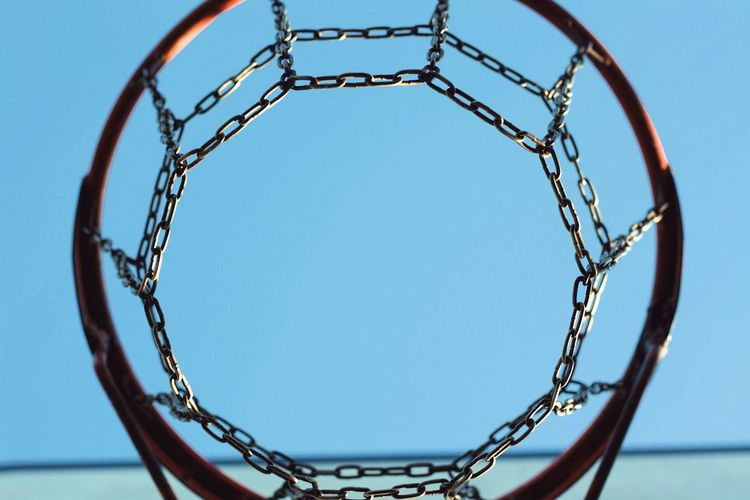 Basketball hoop Sky Basketball - Sport Clear Sky Sport Shape Geometric Shape Circle Close-up Leisure Games Pattern Metal Day Blue Outdoors No People Low Angle View Basketball Hoop Net - Sports Equipment Nature Architecture Capture Tomorrow