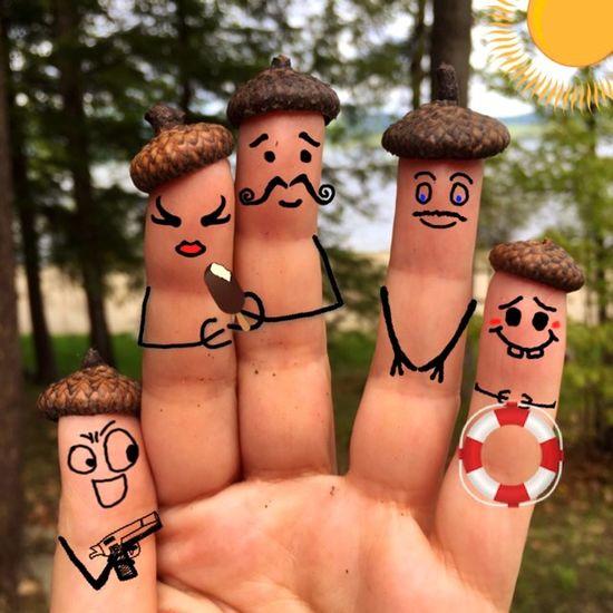 Fingers Family Fingerfaces Fingerstyle Fingerart Finger Painting Cool Faces