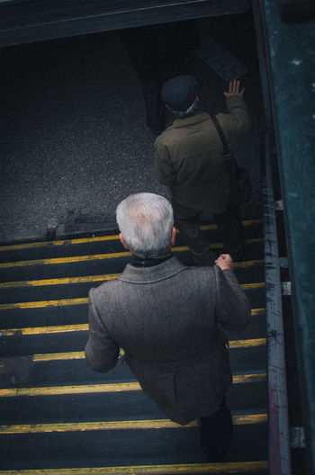 Subte Stairs Rear View Real People Men Senior Adult People Full Length Adult Lifestyles Walking Architecture Senior Men City Staircase Hat Street Transportation Road Marking Clothing Road Warm Clothing Subway EyeEm Best Shots EyeEm Selects A New Perspective On Life The Street Photographer - 2019 EyeEm Awards