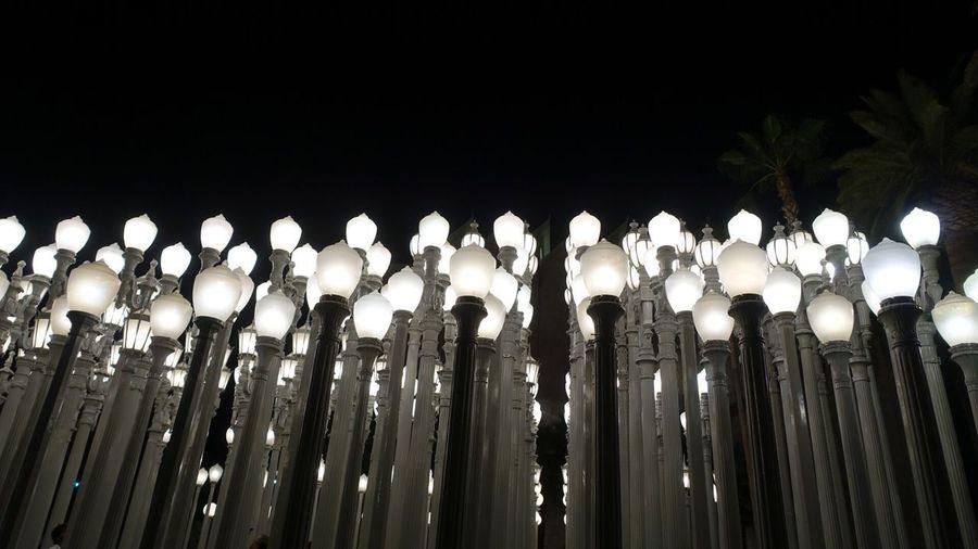 No People Illuminated Lighting Equipment Outdoors Sky Night Low Angle View Lacma Lights Lacma Lacmalights