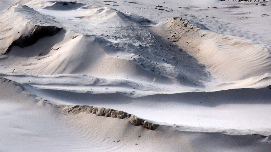 Beach Beauty In Nature Cold Temperature Day Ice Landscape Nature No People Outdoors Physical Geography Sand Mountains Scenics Snow SyltTranquil Scene Tranquility White Color Winter Sylt Germany Sylt Strand