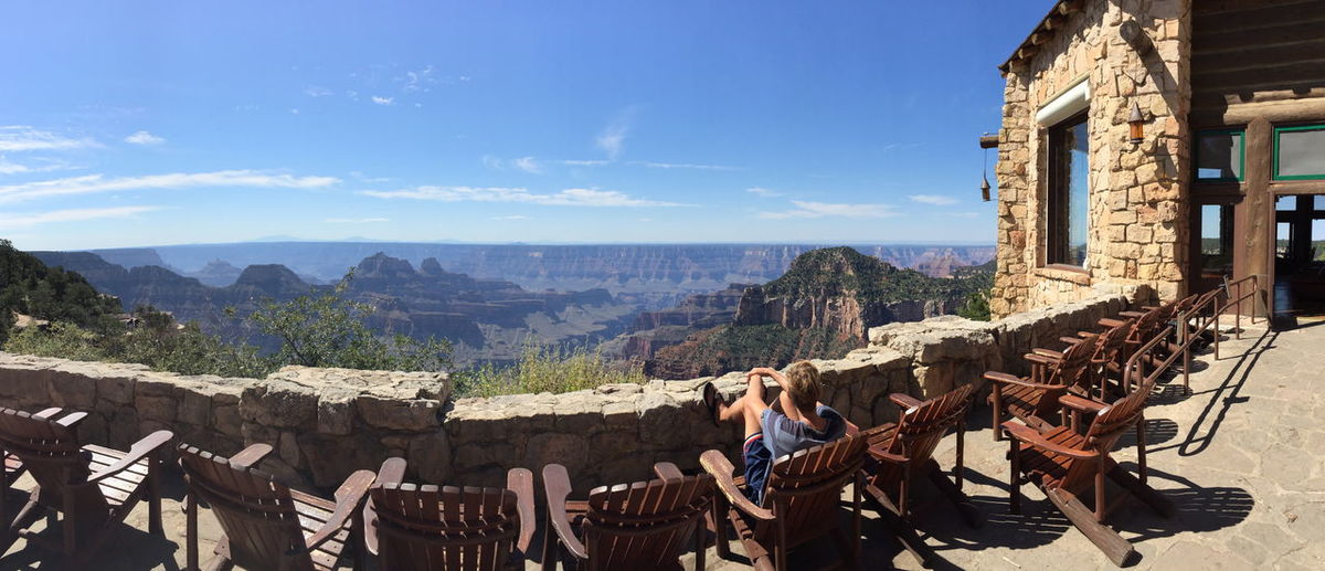 Grand canyon Endless Grand Canyon Grand Canyon National Park North Rim Panorama Panoramic View Tourist Tourist Attraction  Travel View Västerås Adult Architecture Building Exterior Built Structure Cloud - Sky Day endlessness Expanse Grand Canyon Lodge Grand Canyon North Rim Leisure Activity Lifestyles Lodge Looking At View Men Mountain Mountain Range Nature Outdoors Pano Panoramic Landscape Panoramic Photography People Real People Scenics - Nature Sky Solo Traveler Solo Traveller Togetherness Travel Travel Destinations Traveler Vastness Women