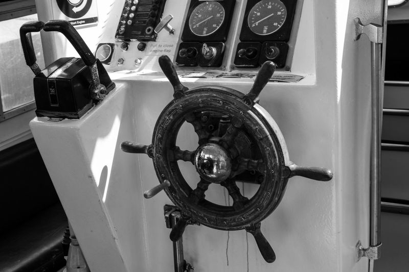 Where is the next destination Black And White Destination Unknown Travel Photography Boat Wheel