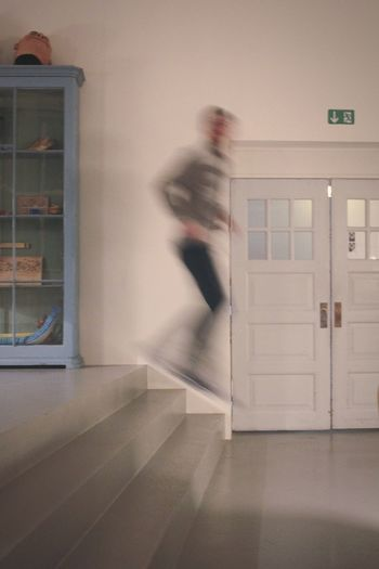 Blurred Motion One Person Full Length One Man Only People Indoors  Motion Spooky Surreal Adults Only Adult Urgency Architecture Men Only Men Escape Confined Space Day Jumpshot Likeghosthouse Ghostly EyeEmNewHere