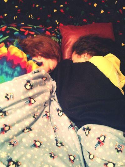 Rachel &' Krista Sleeping (: