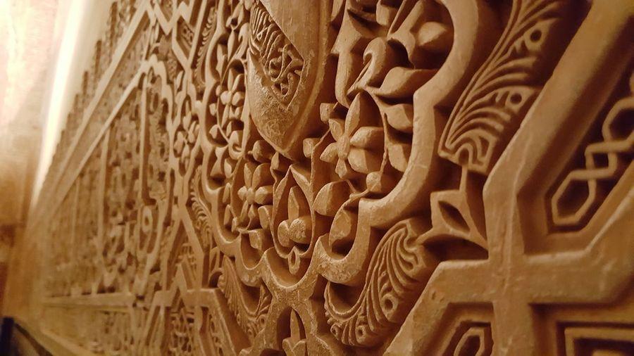 Close-up Architecture Religion Palace Alhambra De Granada  Arabic Culture
