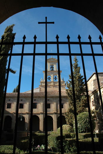 Monasterio De Cañas Architecture Built Structure Low Angle View Sky Arch Nature No People Building Exterior Plant Building Day Tree History The Past Outdoors Boundary Window Barrier Fence Sunlight