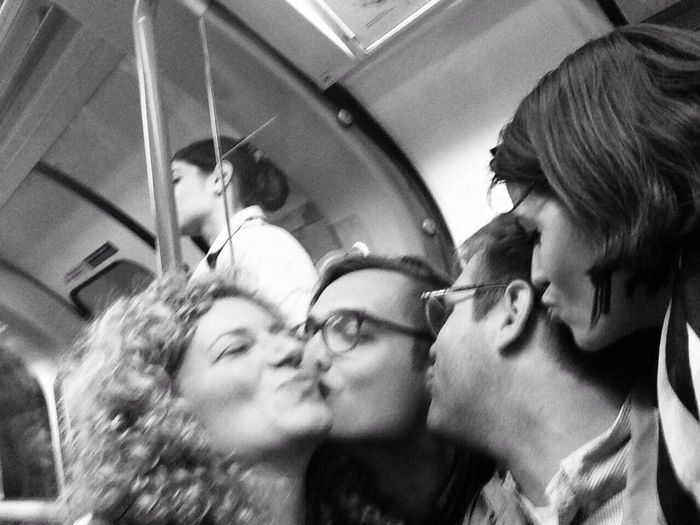 THESE Are My Friends London Tube Spread The Love Kiss Kisses Friendship Having Fun Don't Care Enjoy The New Normal Connected By Travel