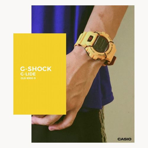 My Yellow Casio Product Photography One Person Holding Indoors  Midsection Standing Human Body Part Transfer Print Yellow Lifestyles