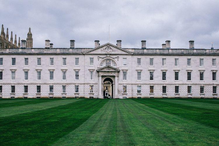 Palace against cloudy sky
