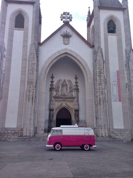 Vw Bug Paodeforma Church Weddingsay Pink Grey