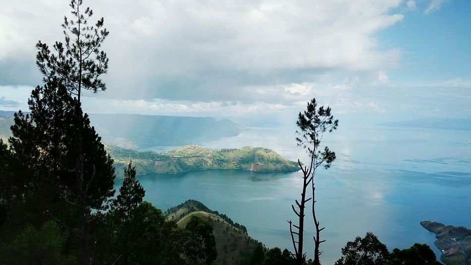 danau toba Tree Water Cloud - Sky Lake Nature No People Outdoors Beauty In Nature Sky Mountain Day