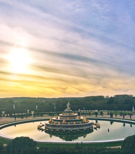 Sky Built Structure Architecture Cloud - Sky Outdoors Travel Destinations No People Building Exterior Water Nature Road Day Fountain Versailles