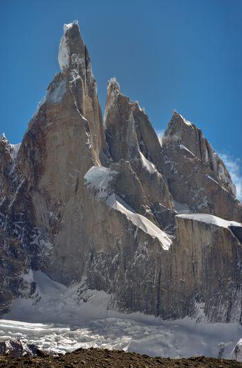 High resolution image of mt. cerro torre, torre egger and punta herron