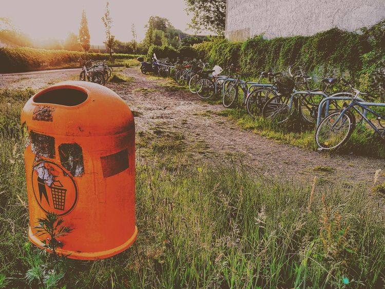 The Great Outdoors - 2017 EyeEm Awards No People Bicycle Outdoors Grass Wasting Time Sunset
