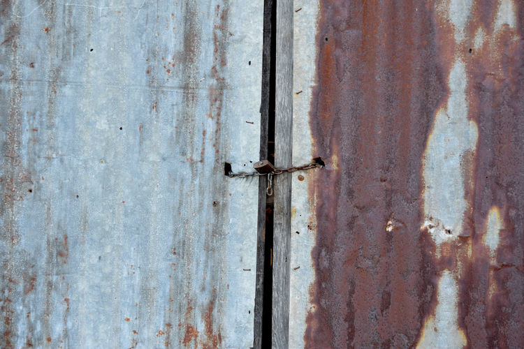 Backgrounds Damaged Decline Door Entrance Full Frame Latch Lock Metal Nail Old Protection Ruined Run-down Rusty Safety Security Textured  Weathered