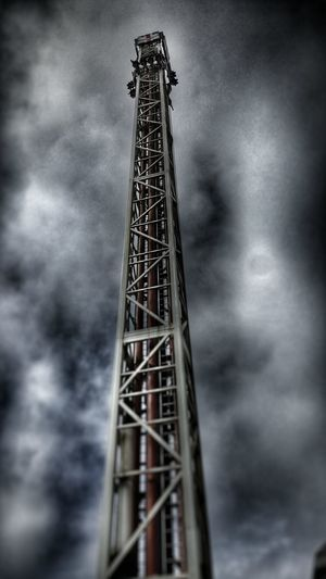 Tower Cloudy Sky Fairground Tall