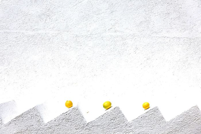 No People Yellow Paper Indoors  White Background Food Architecture Day Close-up Citrus Fruit Citrus  Zickzack White Color Stairs