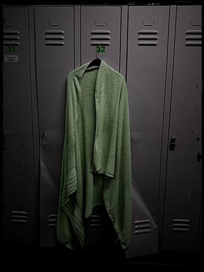 Towel Hanging On Locker