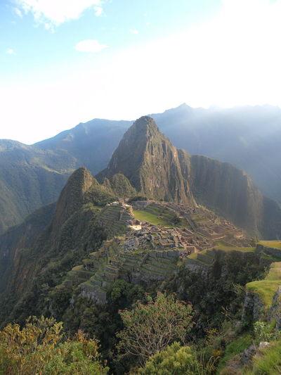 View of Macchu Picchu Hiking Hiking Trail Inca Trail Macchu Picchu Mountain Mountain Range Nature Peru Tranquility