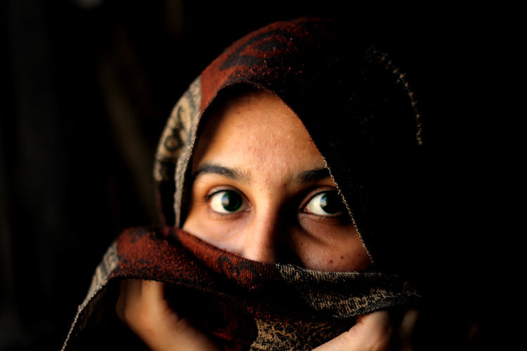 Frightened. EyeEmNewHere Freshness Fresh On Eyeem  Photo Photography Fresh First Eyeem Photo EyeEm Best Shots Saudi Arabia Human Sillouette Window Pakistan Muslim Only Women One Woman Only Adults Only Adult Portrait Looking At Camera One Person Hiding Headshot One Young Woman Only Human Face Indoors  Close-up Women Human Eye 50 Ways Of Seeing: Gratitude This Is Natural Beauty International Women's Day 2019 My Best Photo