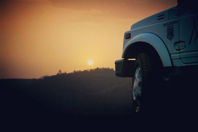 Peaceful sunset with family awesome evening #India #Maharashtra #sunset #dawn #landscape #light #dusk #backlit #outdoors #vehicle #silhouette #evening #sky #road #sun #travel #traveling #visiting #instatravel #instago #carporn #instacar #cargram #shadow #weather #people EyeEmNewHere