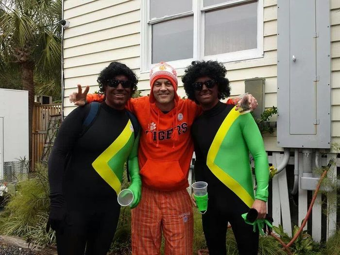 Polarbear plunge 2013! Me and a few members of the Jamaican bobsled team!Enjoying Life Hanging Out Check This Out Party Hard