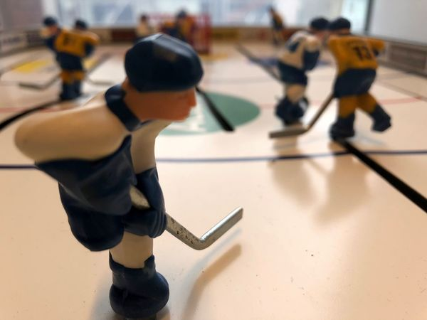 Toys Competition Game Hockey Ice Rink Indoors  No People Playing Sport Sports Clothing Sports Uniform Table Hockey Toy