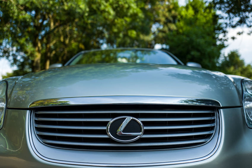 Lexus SC 430 SC430 Car Close-up Day Focus On Foreground Glass - Material Headlight Land Vehicle Luxury Metal Mode Of Transportation Motor Vehicle Nature No People Outdoors Plant Retro Styled Silver Colored Transportation Tree Vintage Car Windshield