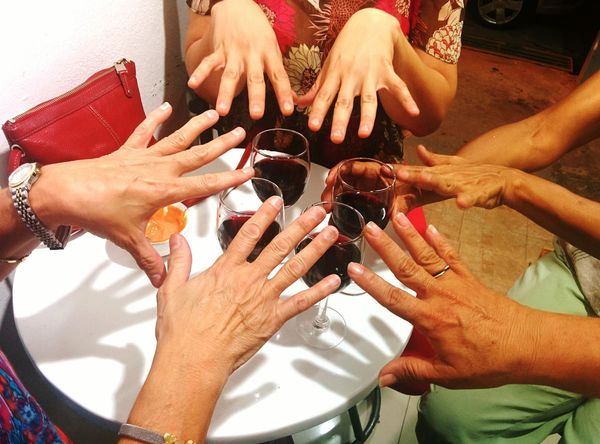 Hanging Out Wine Relaxing Enjoying Life Handsoftheworld Hands All Over