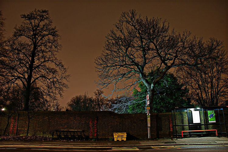Bench Bus Stop Empty Night St Empty Street Hampshire  Hanpstead Night In The City Nightphotography Spaniards Lane