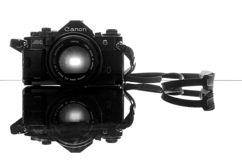 Reflection Tools Of The Trade Craft Aperture Image EyeEmNewHere Through The Lens Photography Lens Imaging Fundamentals Craft Canon Black And White A-1 SLR Retro Film Classic Camera Be. Ready. A1