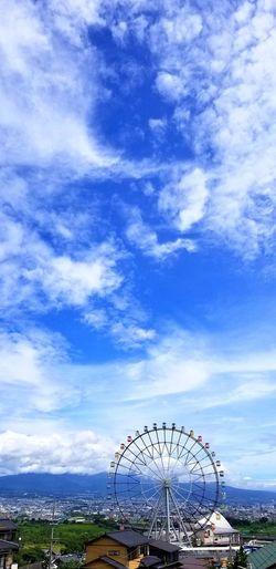 終戦記念日の今日正午、富士市岩渕の空。暑いとはいえ穏やかな空の下、平和を祈りました・・・・・・。笑顔がずーっと続きますように。 終戦記念日 Bluesky 富士市 夏休み 平和 祈り Peace 富士川SA フジスカイビュー 夏の空 Blue 青空 Sky Cloud - Sky Big Wheel