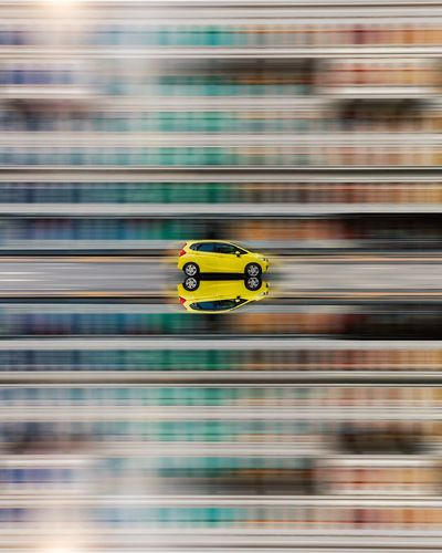 Close-up of yellow toy car