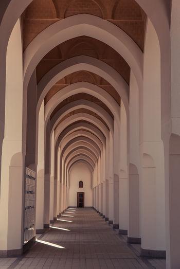 Empty corridor of mosque
