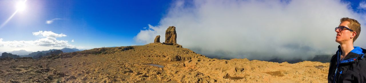 My Favorite Photo Sun Sky Sky And Clouds Clouds Desert Watching Nature Panorama Rock Rock Nublo Gran Canaria Gran Canary Island Fog
