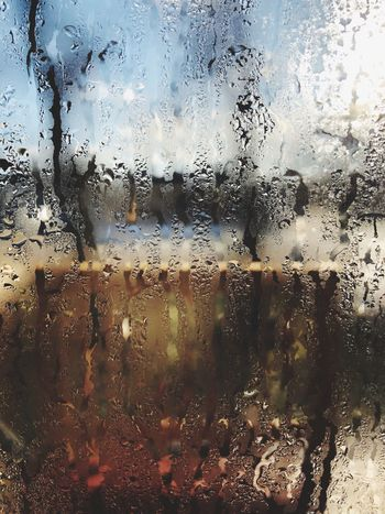EyeEmNewHere Glass - Material Window Drop Backgrounds Full Frame Wet Indoors  Condensation No People Water Weather Close-up Day Looking Through Window Sky Nature