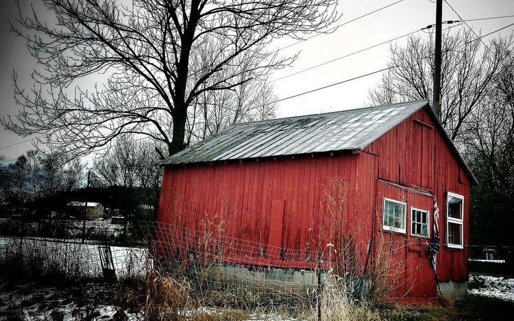 On a drive with my husband, and something about the contrast of the little red barn with the bleak landscape appealed to me. Taken with Samsung Galaxy 4. Streamzoofamily Rural Scenes eye4photography Barn EyeEm Best Shots rmh photos