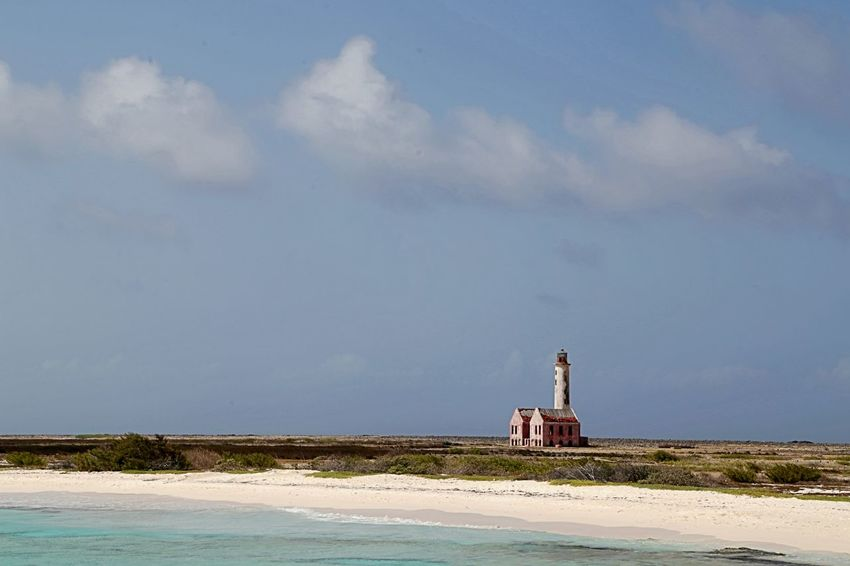 Klein Curacao Architecture Beach Building Exterior Built Structure Day Horizon Over Water Island Lighthouse Nature No People Outdoors Sand Sand Dune Sea Sky Travel Destinations Water
