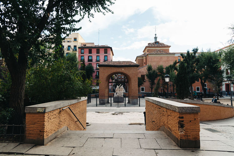 Dos de Mayo Square in Malasaña District in Madrid City Daoíz Y Velarde Madrid Malasaña SPAIN Spanish Square Travel Architecture Building Exterior Built Structure City Day Dos De Mayo History Monument Outdoors Urban