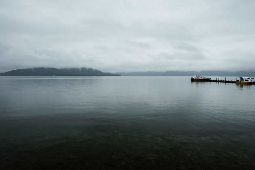 Akan National Park Cloudy Hokkaido Rain Weather Boat Caldera Lake Clouds And Sky Fog Lake Kussharo Landscape