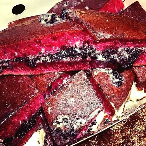 Enjoying Life Yummy♡ Red Velvet Sweet Cake Indonesianculinary Traditionalfood