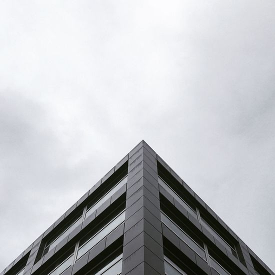 Architecture Building Building Exterior Low Angle View Built Structure Architectural Style Window Sky Modern No People Outdoors Height Day Geometric Shape Geometry Pyramid Triangle Minimalism Symmetry Blackandwhite Bw Gotham Monochrome Windows