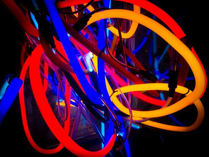 Close-up of multi colored light painting