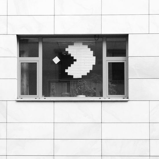 8bit Architecture Building Exterior Computer Computer Game Day Indoors  No People Pac Man Pacman Retro Retro Gaming Retro Styled Window